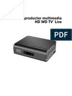 WD TV Live Guia de Usuario