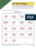 Vowel Team Bingo