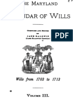 The Maryland Calendar of Wills 1793 to 1713 Vol 3 1907