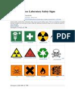 Science Laboratory Safety