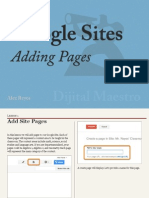 Add Google Site Pages