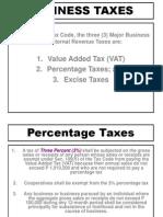 TAX Percentage Tax