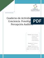 Cuaderno de Enseñanza Conc. Fonol. y Disc Auitiva
