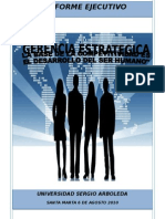 Informe Ejecutivo - Gerencia Estrategica