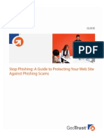 Stop Phishing a Guide to Protecting Your Web Site Against Phishing Scams