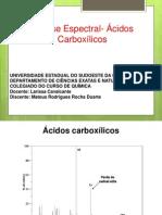 Análise Espectral- Ácidos Carboxílicos