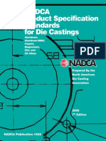 NADCA Product Specification Standards for Die Castings