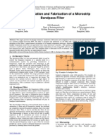 Design, Simulation and Fabrication of a Microstrip Bandpass Filter