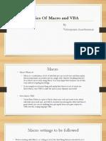 Basics of Macro and VBA