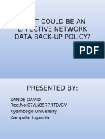 Network Data Backup Policy