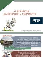Fracturas Expuestas, Clasificación y Tratamiento Trauma