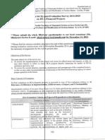Questionare for JICA Expost Evaluation Survey