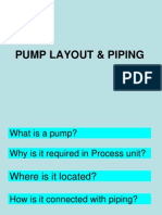 PUMP LAYOUT & PIPING