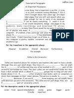 Descriptive Paragraphs Answers 2