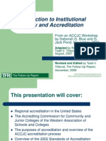TFR InstitutionQuality&Accreditation ACCJC2006 TVT2009