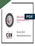 CEHv6 Module 42 Hacking Database Servers
