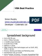 excel vba best practice