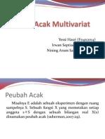 Peubah Acak Multivariat