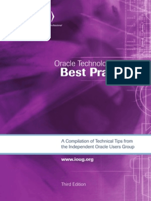 Oracle Technology Best Practices Oracle Database Sql