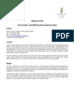 Burj Al Arab - Media Fact File