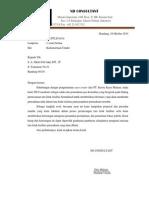 Surat Pengantar 1