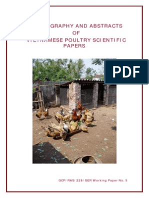 BIBLIOGRAPHY AND ABSTRACTS OF VIETNAMESE POULTRY SCIENCE