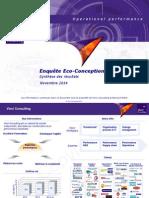 VIN20-COM 1411a -Présentation Analyse Eco-conception Vinci Consulting & B. Mahe