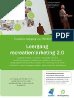 Leergang Recreatiemarketing 2.0