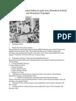 Kehidupan Masyarakat Indonesia Pada Masa Demokrasi Liberal Dan Demokrasi Terpimpin
