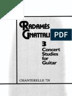 Radames Gnattali - 3 Concert Studies for Guitar