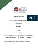 English Article Pendidikan Khas
