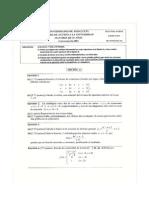 Exámenes de Matemáticas