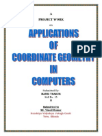 Applications Used in Computers Using Coordinate Geometry
