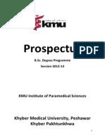 Prospectus Paramedics 2012-13