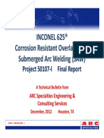 Inconal625  - SAW Study - Final Report