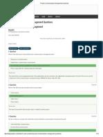 Project Communications Management Questions