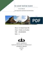 Sejarah Arsitektur - Batak Karo