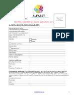 Application Form Alfabet