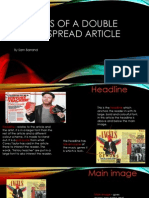 Analysis of a Double Paged Spread Article