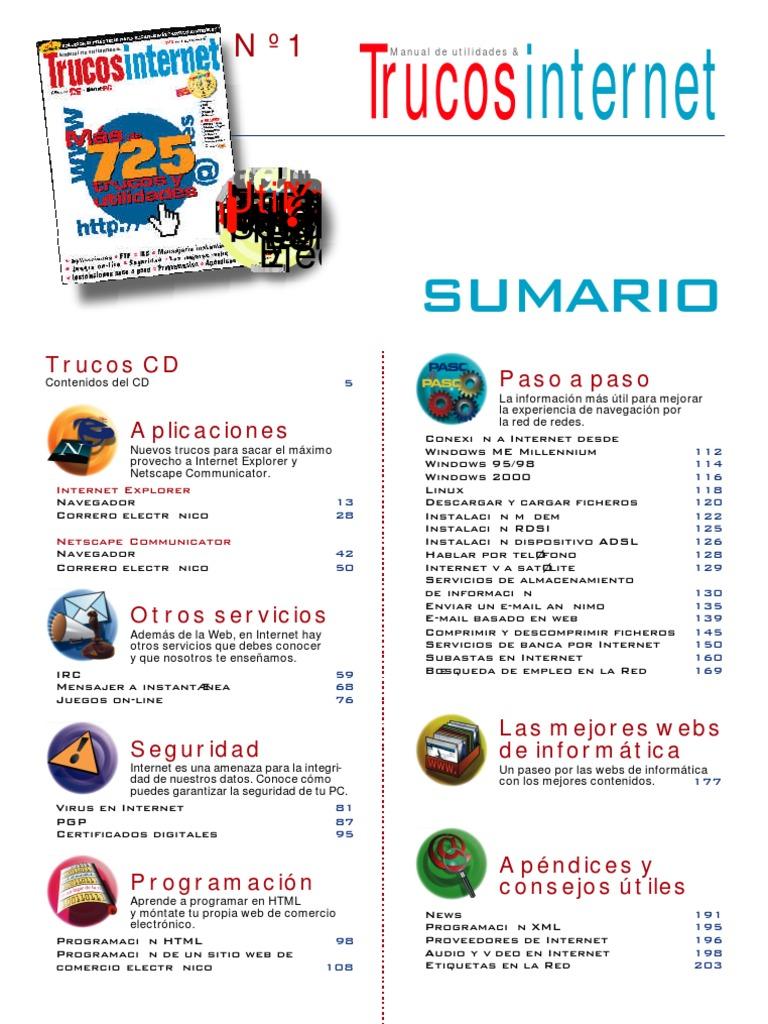 quality design 29209 67f34 Pc Actual Trucos Internet 1