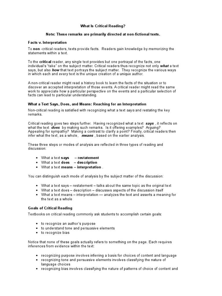 single text analysis examples