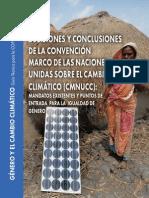 Decisiones y conclusiones de la Convención Marco de Naciones Unidas contra Cambio climático
