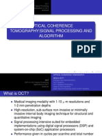Optical Coherence Tomography- Signal Processing and Algorithm