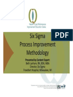 Lean six sigma for healthcare