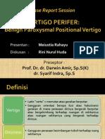 Vertigo Perifer BPPV