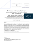Performance Analysis of a Double-pass Photovoltaic-Thermal PVT Solar Collector With CPC and Fins