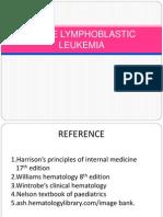 Acute Lymphoid Leukemia
