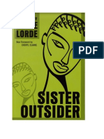 Sister Outsider - Essays and Speeches by (Audre Lorde)