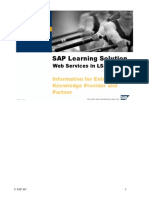 SAP Learning Solution - Web Services in LS6.00
