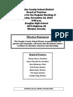 Douglas County School District Board of Trustees Agenda Nov. 18 2014